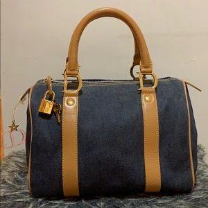Christian Dior Denim Mini Boston Bag